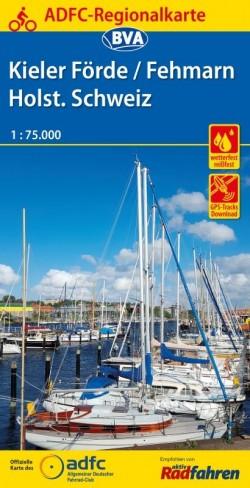 Fietskaart BVA/ADFC Regionalkarte Kieler Fjörde/Fehmarn 1:75.000 (4.A 2018)