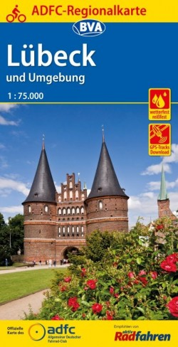 BVA-ADFC Regionalkarte Lübeck und Umgebung 1:75.000 7.A 2018