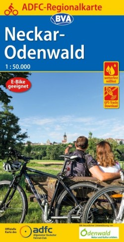 BVA-ADFC Regionalkarte Neckar-Odenwald 1:50.000 (1.A 2020)
