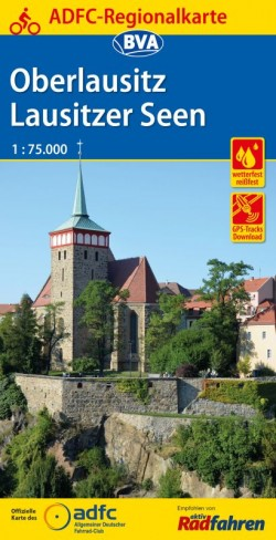 BVA-ADFC Regionalkarte Oberlausitz 1:75.000 (5.A 2017)