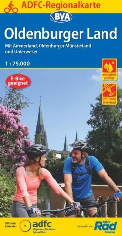 BVA-ADFC Regionalkarte Oldenburger Land 1:75.000 (5.A 2020)