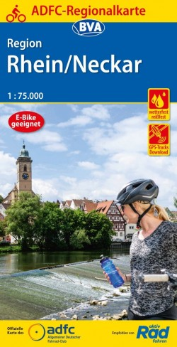 BVA-ADFC Regionalkarte Region Rhein/Neckar 1:75.000