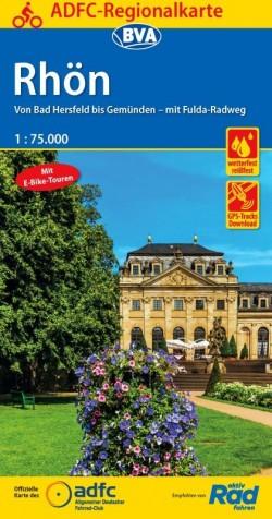 Fietskaart ADFC-BVA Regionalkarte Rhön 1:75.000 (7.A 2018)