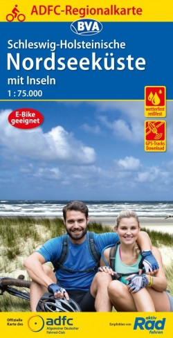 BVA-ADFC Regionalkarte Schleswig-Holsteinische Nordseeküste mit Inseln 1:75 000