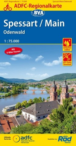 BVA-ADFC Regionalkarte Spessart/Main Odenwald 1:75.000 5.A 2018