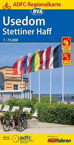 BVA-ADFC Regionalkarte Usedom - Stettiner Haff 1:75.000 (3.A 2018)