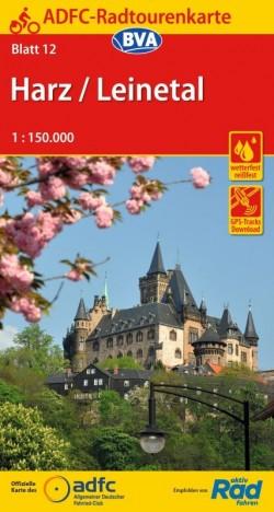 Fietskaart ADFC Radtourenkarte 12 Harz/Leinetal 1:150.000 (2019)