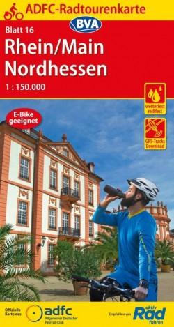 Fietskaart ADFC Radtourenkarte 16 Rhein/Main - Nordhessen 1:150.000 (2020)