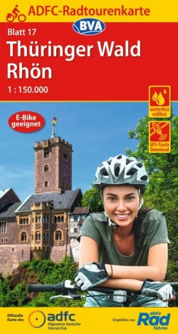 Fietskaart ADFC Radtourenkarte 17 Thüringer Wald - Rhön 1:150.000 (2020)
