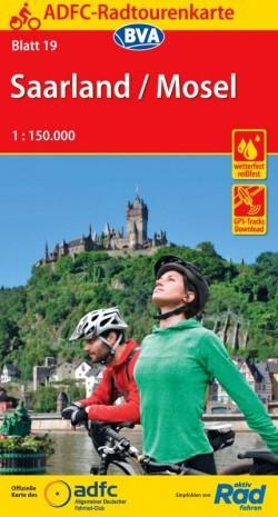 Fietskaart ADFC Radtourenkarte 19 Saarland - Mosel 1:150.000 (2020)