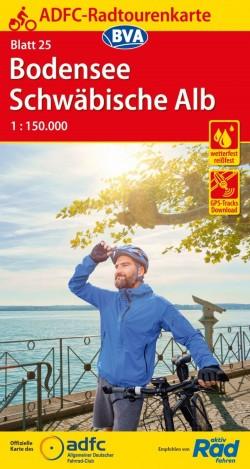 Fietskaart ADFC Radtourenkarte 25 Bodensee - Schwäbische Alb 1:150.000