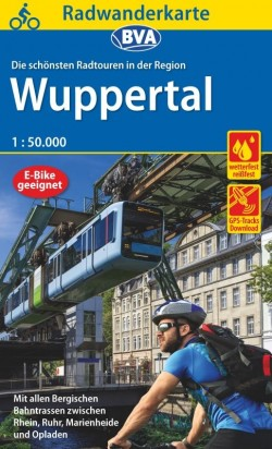 Kreis-Radwanderkarte Wuppertal - Bergische Bahnstrassen