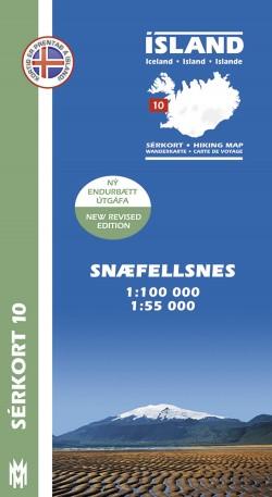 Wandelkaart/Sérkort 10: Snæfellsnes 1:100.000/1:55.000 Iceland