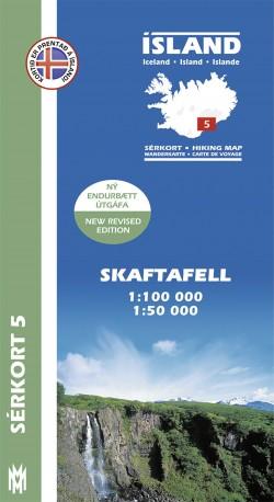 Wandelkaart/Sérkort 5: Skaftafjell 1:100.000/1:50.000 Iceland