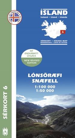 Wandelkaart/Sérkort 6: Lónsöræfi-Snæfell 1:100.000/1:50.000 Iceland