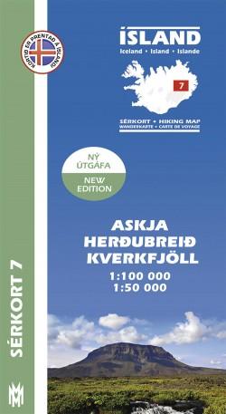 Wandelkaart/Sérkort 7: Askja-Herdubreid - Kverkfjöll 1:100.000/1:50.000 Iceland