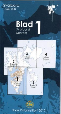 Svalbard Sørvest 1:250.000 (Blad 1)