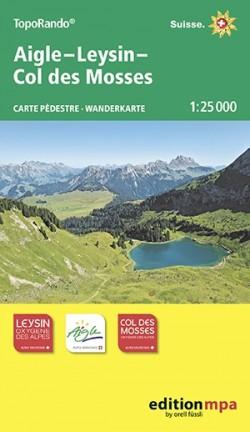 TopoRando Aigle-Leysin-Col des Mosses 1:25.000
