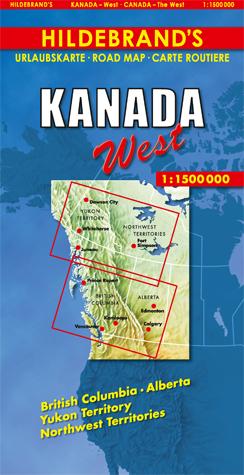 Wegenkaart - landkaart Canada west | Hildebrand's