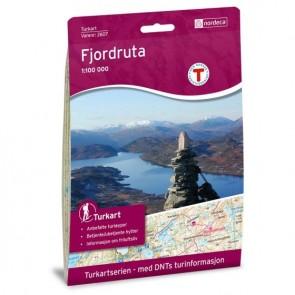 Wandelkaart Noorwegen Turkart Fjordruta 1:100.000