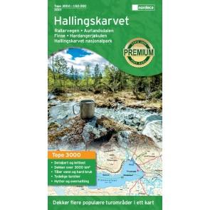Wandelkaart Topo 3000 Hallingskarvet Nasjonalpark 1:50.000 (2016)