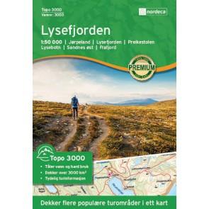 Wandelkaart Topo 3000 Lysefjorden 1:50.000 (2016)