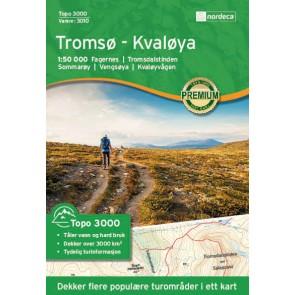 Wandelkaart Topo 3000 Tromsøy Kvaløya 1:50.000 (2017)