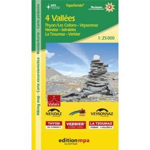 TopoRando 4 Vallees 1:25.000