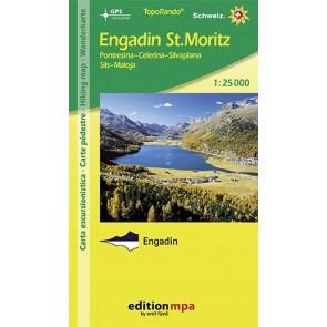 TopoRando Engadin St. Moritz 1:25.000