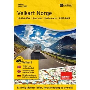 Wegenkaart/Veikart Norge 1:1m (2018-2019)