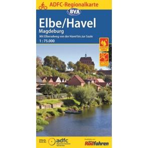 BVA-ADFC Regionalkarte Elbe/Havel 1:75.000 (1.A 2016)