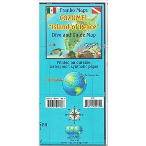 "Cozumel ""Island of Peace"" Dive and Guide Map"