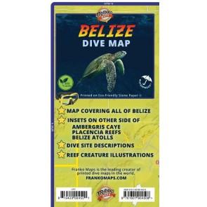 Belize Dive Map