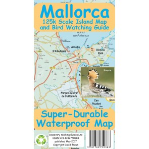Mallorca Island Map and Bird Watching Guide 1:125.000