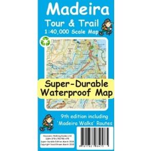 Wandelkaart Madeira Tour & Trail 1:40.000  9th. ed. 2018