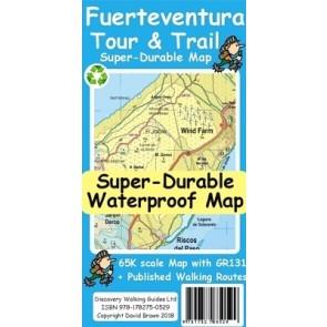 Wandelkaart Fuerteventura Tour & Trail Super-Durable Map (2018)