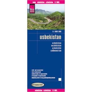 Wegenkaart Usbekistan 1:1m (2015)