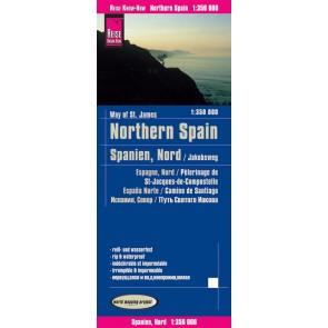 Wegenkaart Northern Spain / Nordspanien/Jakobsweg 1:350.000 9.A 2018