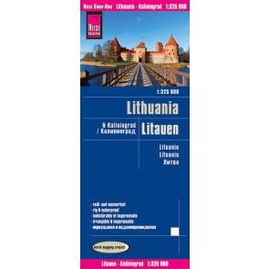 Wegenkaart Litauen/Kaliningrad 1:325.000 5.A 2017