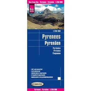 Wegenkaart Pyrenees / Pyrenäen 1:250.000  10.A 2018