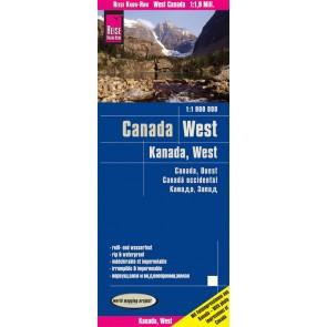 Wegenkaart Canada West 1:1,9m 8.A 2019