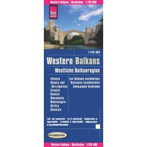 Landkaart Westliche Balkanregion 1:725.000 5.A 2020