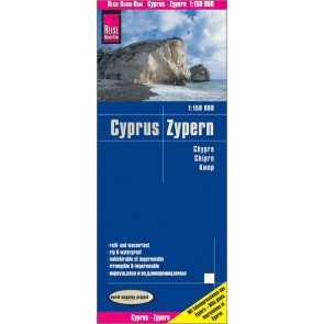 Wegenkaart Cyprus-Zypern 1:250.000  6.A 2018