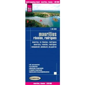 Landkaart Mauritius, Réunion 1:90.000  4.A 2015