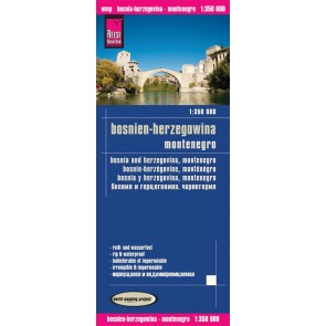 Wegenkaart Bosnia-Herzegovina/Montenegro 1:350.000 (1.A 2016)