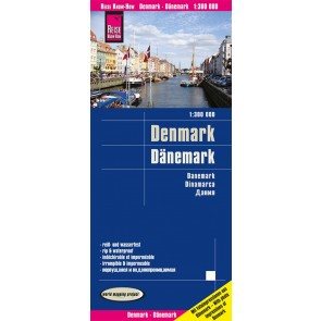 Landkaart Dänemark/Denmark/Denemarken 1:300.000 4.A 2020