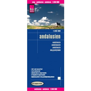 Landkaart Andalusien-Andalusia 1:350.000 3.A 2016