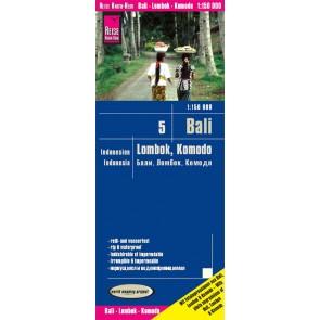 Landkaart Indonesia 5: Bali-Lombok-Komodo 1:150.000  7.A 2019