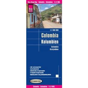 Wegenkaart Columbia - Kolumbien 1:1 400.000  6.A 2018