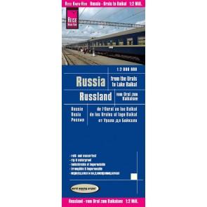 Landkaart Russi from Urals to Lake Baikal/ Russland, vom Ural zum Baikalsee  1:2m  4.A 2019